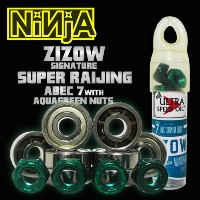 NINJA BEARING ABEC 7 ZIZOW signature SUPERRAIJING with 4nuts by BLOW NUTS 【ベアリング ニンジャ】【スケートボード...