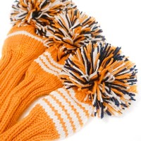 Jan Craig Orange White Navy Stripe Headcover Sets【ゴルフ アクセサリー>ヘッドカバー】