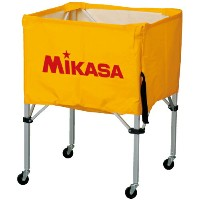 MIKASA ミカサ ボールカゴ 3点セット 箱型 大 イエロー BC-SP-H-Y 【取り寄せ品】