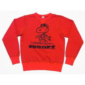 Buzz Rickson's[バズリクソンズ]×PEANUTS[ピーナッツ] スウェット スヌーピー SNOOPY TYPE G-1 BR67134 (RED) 送料無料 代引き手数料無料 【RCP】