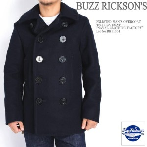 "BUZZ RICKSON'S バズリクソンズ ピーコート Pコート Type PEA COAT ""NAVAL CLOTHING FACTORY"" BR11554"