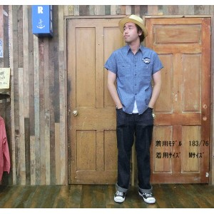 No.BR37121JS BUZZ RICKSONS×JUNKY SPECIALバズリクソンズ×ジャンキースペシャルBLUE CHAMBRAYS/S WORK SHIRT