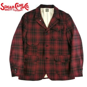 No.SC13206 SUGAR CANE シュガーケーンFICTION ROMANCE21.25oz.WOOL CHECK CRUISER JACKET
