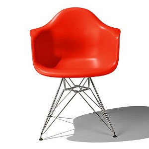 Eames Shell Chair イームズ チェア Arm Chair(DAR) /レッド【smtb-ms】【RCP】.
