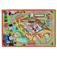きかんしゃトーマス プレイラグ Thomas & Friends Train and Railroad Play Rug by Thomas & Friends [Toy]