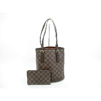LOUIS VUITTON ルイヴィトン ダミエ バケット トートバッグ ショルダーバッグ 茶 【中古】