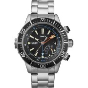 Timex タイメックス メンズ腕時計 Intelligent Quartz T2N809 Mens Indiglo Depth Gauge Thermometer Watch