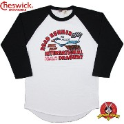 "CHESWICK/チェスウィック ROAD RUNNER/ロードランナー 3/4 LENGTH SLEEVE BASEBALL T-SHIRT ""INTERNATIONAL DRAGWAY""..."
