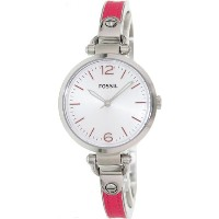 Fossil フォッシル レディース腕時計 Georgia Three Hand Stainless Steel And Leather Watch - Pink Es3258