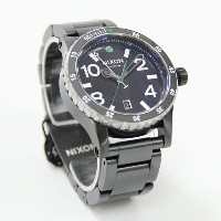 NIXON THE DIPLOMAT SS Black/Silver/Green A277 1421 ディプロマットSS ニクソン 腕時計