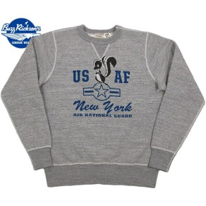 "BUZZ RICKSON'S/バズリクソンズ SET-IN CREW SWEAT THE SKUNK WORKS""NEW YORK AIR NATIONAL GUARD"" ロッキードマーチン..."