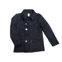 【期間限定50%OFF!】POST OVERALLS(ポストオーバーオールズ)/#2113R P-POST-R WOOL MELTON P-COAT/navy