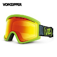 2016 VONZIPPER ボンジッパー ゴーグル CLEAVER JC1 AF21M708 LIGHT GREEN SATIN CLEAR CHROME ORANGE ジャパンフィット