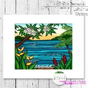 HEATHER BROWN Lahaina Shores HB9076P ヘザーブラウン アートプリント Mサイズ 絵画 ハワイ サーフ サーフィン ハワイアン 絵 風景画■CRNG ds-Y