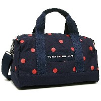 トミーヒルフィガー バッグ TOMMY HILFIGER 6930059 610 CORE PLUS MINI DUFFLE BICOLOR DOT ショルダーバッグ NAVY/RED
