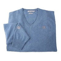 Scotty Cameron 2012 V-Neck Cashmere Country Blue Sweaters【ゴルフ ゴルフウェア>ジャケット】