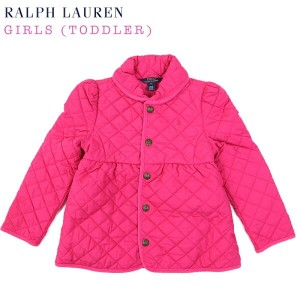 "(2-6X) POLO by Ralph Lauren ""GIRL (2-6X)"" Quilted Jacket USラルフローレン 子供用のキルティングジャケット (UPS)"