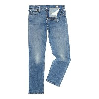 リーバイス メンズ ボトムス ジーンズ【Levi's 504 Regular Straight Fit Perch Light Wash Jeans】Denim