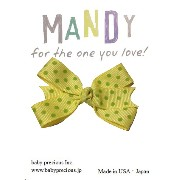 MANDY Baby Bows Yellow with Green Dot
