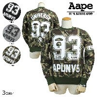 Aape BY A BATHING APE エイプ エーエイプ アベイシングエイプ スウェット トレーナー 3カラー ARMY BOWL PULLOVER SWEAT メンズ