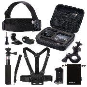 Luxebell® 8in1 Sony Action Camアクセサリセット ソニーアクションカムHDR-AS15/ AS20/ as30v/ as100v/ as200v/ソニーアクション...