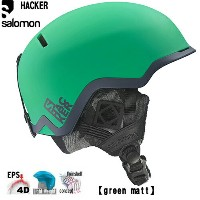 SALOMON サロモン 2016 ヘルメット HACKER ハッカー (Greenmat):L37770800 [30_off] [SP_SKI_ACC]
