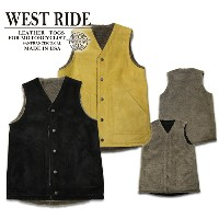 【WESTRIDE ウエストライド】ベスト/15FW RV ARMY LEATHER VEST ★送料・代引き手数料無料!REAL DEAL