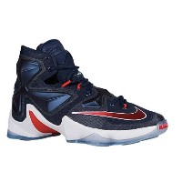 Nike LeBron XIII 13 Midnight Navy/White/Bright Crimson/University Red James, LeBron メンズ ナイキ バッシュ...
