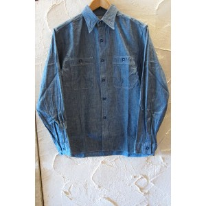 BUZZ RICKSON'S バズリクソンズ/BLUE CHAMBRAY WORK SHIRTS BLUE BR25995