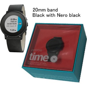 Pebble Time Round(ぺブルタイムラウンド)【iPhone/android用スマートウォッチ】【A】