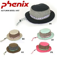PHENIX フェニックス 帽子 AUTUMN WOOL HAT PH268HW68 BE/BK/KA【帽子】