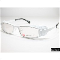 J.F.RAY×METAL GEAR SOLIDコラボHIDEO GEARSL FRAMES1010 White metal / Blue light-proof lenses メタルギアソリッド