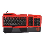 Mad Catz ゲーミングキーボード(レッド)S.T.R.I.K.E. 3 Gaming Keyboard Red MC-STRIKE3R