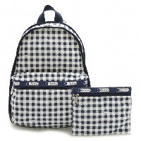 【40%OFF】LeSportsac 7812-D756 リュックサック Basic Backpack(ベーシックバックパック)Gingham Classic Navy/レスポートサック【新品・本物】