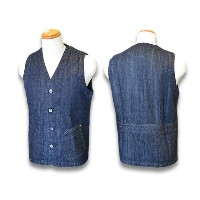 "【AT DIRTY/アットダーティー】2016SS""Workers Vest/ワーカーズベスト""(インディゴデニム)【送料・代引き手数料無料】【あす楽対応】(NO NAME/ノーネーム/DRESS..."