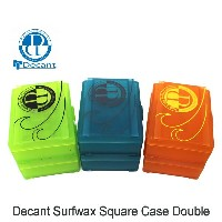 Decant SURF WAX SQUARE CASE DOUBLE / デキャント サーフィン スキム ワックス収納ケース 2個1セット カラーアソート