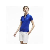 LACOSTE (W)ストレッチ ピケ ポロシャツ (半袖) ラコステ【送料無料】