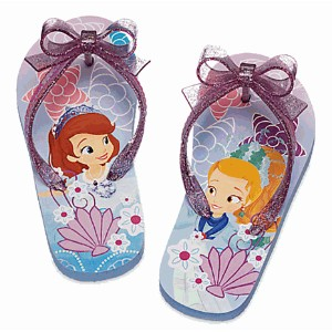 Disney(ディズニー)Sofia the First Flip Flops for Kidsソフィア ビーチサンダル 9/10 16.2-17.0
