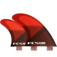 FCS FIN PC-3 RED SLICE QUAD FINSET FCS クアッドフィン 送料無料