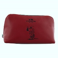 COACH OUTLET コーチ ポーチ F65208 SVE8B COACH X PEANUTS COSMETIC CASE 17