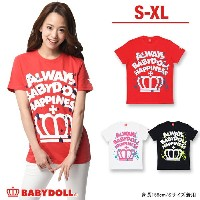 50%OFF アウトレットSALE 親子ペア★ペイントTシャツ-大人 男女兼用 レディース メンズ ベビードール BABYDOLL starvations-7677A_sts