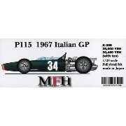 P115 '67 Italian GP【1/20 K-308 Full detail kit】