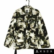 【OUTER SALE】Off-White オフホワイト16SS BLEACHED CAMOUFLAGE SAHARIANAcamouflage print jacketカモフラージュプリントジャケッ...