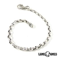 【LONE ONES】ロンワンズ【送料無料】【あす楽】/MF Wallet Chain - Silk Link Small with Swan Clip Small 17inch ウォレットチェーン...