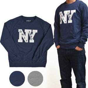 ONLY NY(オンリーニューヨーク) OUTFIELD FRENCH TERRY CREWNECK スウェット トレーナー フリース 【あす楽対応】【RCP】