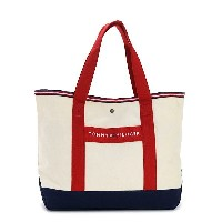 TOMMY HILFIGER 6923661-467SHOPPER NATURAL/REDトミーヒルフィガー トートバッグユニセックス キャンバスナチュラル×レッド