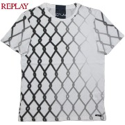 REPLAY/リプレイM3003 JERSEY T-SHIRT WITH PRINT 半袖カットソー/半袖プリントTシャツ WHITE(ホワイト)