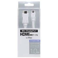 エレコム 1.0m「Mini DisplayPort ⇔ HDMI」ケーブル AD‐MDPHDMI10WH
