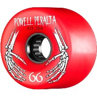 【POWELL PERALTA パウエル・ペラルタ】ATF 66MM 78A WHEEL RED(4pack)【78A】ウィール レッド ロングボード クルーザー オールドスクール スケートボード...