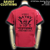 SAVOY CLOTHINGサボイクロージング◆SVY 20ThAnv, Bowling Shirts◆◆RED◆SVY-SH253